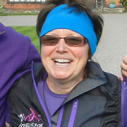 Kerly works alongside Ted who are both Nordic Walking Instructors